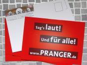 Sag's laut! Und für alle! www.PRANGER.de
