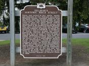 Delavan's Historic Brick Street Historical Marker