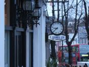 E Coomes Ltd, Turf Accountant - clock, Blackheath