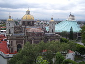 A view from Tepeyac Hill Where Juan Diego had the vision of The Virgin of Guadalupe