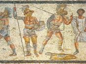 Gladiators from the Zliten mosaic.