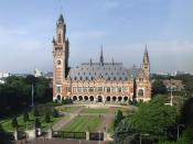 The Peace Palace in The Hague, Netherlands, which is the seat of the International Court of Justice. Français : Le Palais de la Paix, siège de la Cour internationale de Justice à La Haye (Pays-Bas).