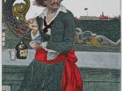 Kidd on the Deck of the Adventure Galley: illustration of William
