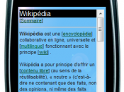screenshot of http://fr.wap.wikipedia.org/