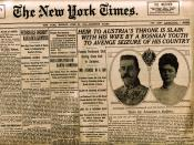 English: Headline of the New York Times June-29-1914