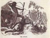 American indians attacking prospectors