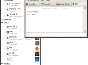 Screenshot of the free instant messenger gossip.