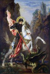 Saint George by Gustave Moreau. Español: San Jorge por Gustave Moreau. Galego: San Xurxo por Gustave Moreau.
