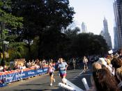 The 2005 New York City Marathon, on Central Park South near the finish line.