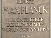 Planck's plaque at Humboldt University, Berlin. English translation: