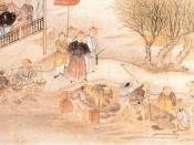 A painting of Lin supervising the destruction of opium