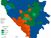 English: Ethnic map of Bosnia and Herzegovina, 2006.