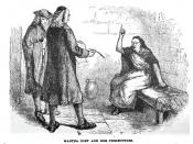 English: Drawing of Martha Corey who was hanged for witchcraft at the Salem Witch trials in 1692