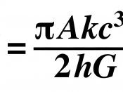 English: Bekenstein–Hawking entropy formula