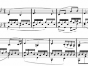 Deutsch: Second movement from Beethovens sonata nr. 8, op 13, bar 1 - 8
