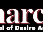 Logo of Anarchy: A Journal of Desire Armed, an American publication which helped develop post-left anarchy thought