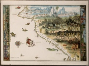 An example of the Dieppe maps showing Sumatra. Nicholas Vallard, 1547.