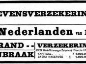 English: Advertisement De Nederlanden van 1845 (insurance company). Nederlands: Advertentie De Nederlanden van 1845 (verzekeringsmaatschappij).