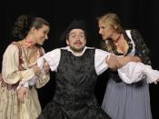 English: Performance still of The Beggar's Opera performed by the DuPage Opera Theatre