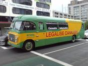 English: 'Mary Jane the Cannabus', the vehicle of a NORML cannabis activism group, seen in Auckland, New Zealand.