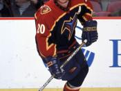 English: Jeff Odgers playing for the Atlanta Thrashers NHL ice hockey team.