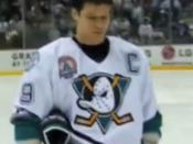 English: Paul Kariya in the 2003 Stanley Cup Final (Game 6).