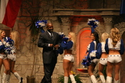 Emmitt Smith and Dallas Cowboys Cheerleaders