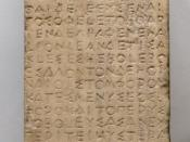 Fragment of an Athenian decree concerning the collection of the tribute from the members of the Delian League, probably passed in the spring of 447 BC.