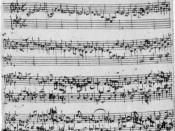 A six-part fugue from The Musical Offering, in the hand of Johann Sebastian Bach.