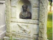 James Scott Skinner's gravestone, Allanvale Cemetery
