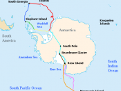 Map of the routes of the ships Endurance and Aurora, the support team route, and the planned trans-Antarctic route of the British Imperial Trans-Antarctic Expedition led by Ernest Shackleton in 1914–15. Voyage of Endurance Drift of Endurance in pack ice S