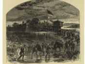 English: Fort Duquesne Pittsburgh, Pennsylvania, Artist: Alfred Waud (1828-1891)