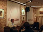 English: A meeting at the Frontline Club