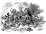 Massacre of the Pequot tribe which resulted in some being enslaved.