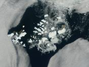Franz Josef Land, NASA satellite image, August 2011.