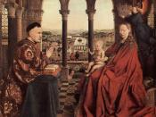 Madonna of Chancellor Rolin, Jan van Eyck, Burgundy, c. 1435