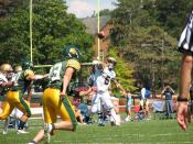 Gallaudet quarterback throwing ball