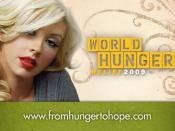 English: Christina Aguilera Helps the Cause to End World Hunger