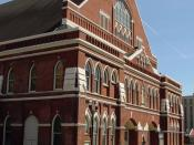 Ryman Auditorium, where The Byrds made their appearance at the Grand Ole Opry on March 15, 1968.