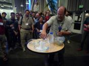 Theodore Gray (of Wolfram Research) with super-soluble sodium acetate