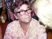 Gene Roddenberry listening to fans after his lecture at the Student Union of the University of Texas at Austin, Austin, Texas, United States.
