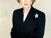 Former British Prime Minister Margaret Thatcher