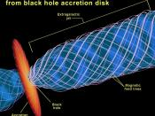 English: Black hole jet diagram. http://www.nasa.gov/centers/goddard/images/content/96552main_jet_schematic.jpe