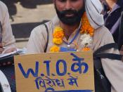 English: Man with turban at farmers rally against the World Trade Organisation (WTO), Bhopal, India. Français : Homme avec turban, manifestation d'agriculteurs contre l'Organisation Mondiale du Commerce (OMC), Bhopal, Inde.