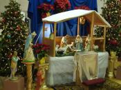 Nativity scene at Sacred Heart Catholic Church, in the historic Barelas neighborhood, Albuquerque, NM, Jan 2008.