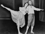 Suzanne Farrell and George Balanchine dancing in a segment of