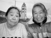 Inuit women at Nain, Newfoundland and Labrador