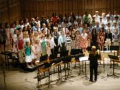 English: School Choir of an Elementary School in the United States Deutsch: Schulchor einer Grundschule in den Vereinigten Staaten, mit Kindern der 4. und. 5. Klasse