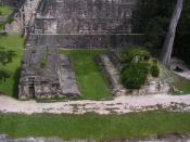 English: Ballcourt at Tikal, Guatemala.