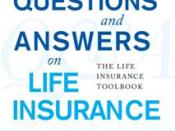 English: Cover of book, Questions and Answers on Life Insurance, by Tony (Anthony) Steuer.
